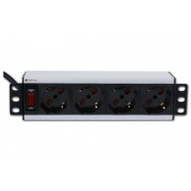 Universal PDU 4 UNEL socket for 10'' rack with on/off switch  - Techly Professional - I-CASE M10-4P