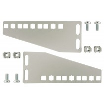 "Pair of 3U Brackets for Vertical Installation of 19"" Rack Equipment - Techly Professional - I-CASE RAIL-33G1U"