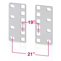 Pair of reducer brackets for ETS cabinets 2U - Techly Professional - I-CASE RAIL-ADP2ETG