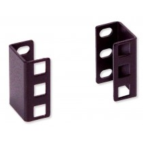 Pair of Depth Adapters 1U Rack Guides - Techly Professional - I-CASE RAIL-EXTEND