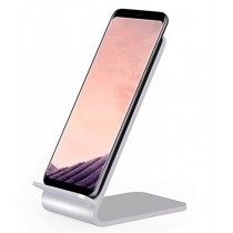 Wireless Fast Charger Qi Vertical Stand 10W Aluminum Alloy - Techly - I-CHARGE-WRA10S
