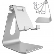 Universal and Adjustable Desk Holder for Smartphone and Tablet - Techly - I-SMART-STAND4