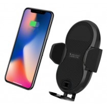 Qi Wireless car charger with sucker with automatic adjustment - Techly Np - I-SMART-WRL3