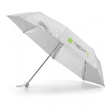 Grey folding umbrella with Techly logo - Techly - I-TLY-OMBG