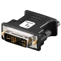 DVI Male/VGA Female Analog Video Adapter Black - Techly - IADAP DVI-8600T