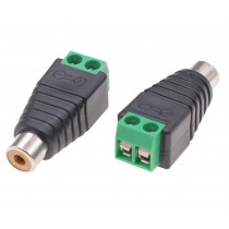 2-pin Terminal Block Connector to Female RCA Adapter - Techly - IADAP TB2T-RCAFM