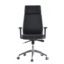 Executive Armchair with Armrests, Black - Techly - ICA-CT 073BK