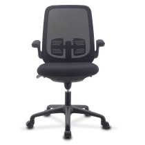 Office Chair Adjustable in Height and Variable Tilt Black - Techly - ICA-CT ARMDL-BK