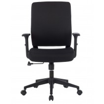 Office armchair with padded seat and armrests - Techly - ICA-CT DC001BK