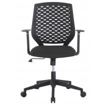 Office chair with padded seat and back in polypropylene - Techly - ICA-CT MC011BK