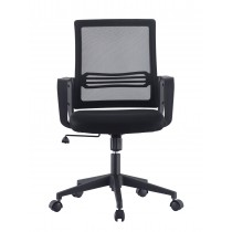 Office Chair with Padded Seat and Mesh Backrest - Techly - ICA-CT MC063BK