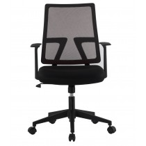 Office chair with padded seat and net fabric back - Techly - ICA-CT MC085BK