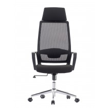 Office Chair with High Back and Black Chromed Base - Techly - ICA-CT MCA033