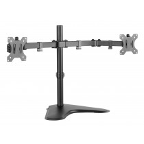 "Double Joint Monitor Arm for 2 Monitors 13-32"" with base - Techly - ICA-LCD 2524"