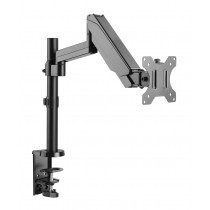"""Gas Spring Monitor Arm 17-32"""", black - Techly - ICA-LCD 516B"""