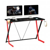 Ergonomic Gaming Desk Game Table with Cup Holder and Headphones - Techly - ICA-TB-G003