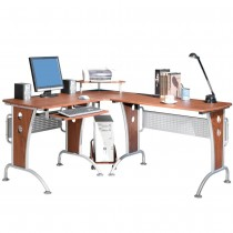 Cherry Corner Desk for Computer - Techly - ICA-TB 3806A