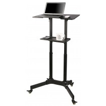 Mobile Workstation Black  - Techly - ICA-TB TPM-1BK