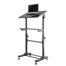 Mobile Presentation Desk Cart with height adjustable and tilting shelf   - Techly - ICA-TB TPM-4
