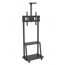 "Floor Support with Shelf for LCD/LED/Plasma TV 32-70"" - Techly - ICA-TR33"