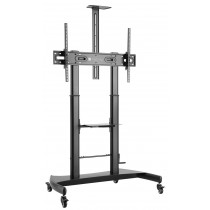 Steel Trolley Floor Support with adjustable height, for TV from 60'' to 100'' - Techly - ICA-TR36