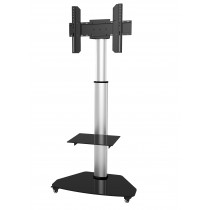 "Floor Stand with Shelf Trolley TV LCD/LED/Plasma 37-70"" Silver - Techly - ICA-TR3SL"