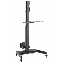 "Floor Trolley with Shelf and CPU Holder for LCD/LED/Plasma TV 13-32"" - Techly - ICA-TR41"