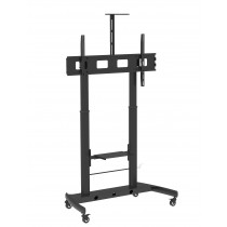 "Floor Stand Height Adjustable 2 Shelves LCD / LED 52-110"" - Techly - ICA-TR45"
