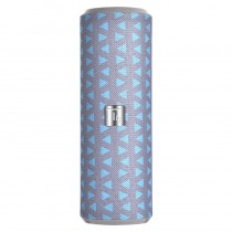 Portable Bluetooth Tube Speaker with FM Radio MicroSD Reader USB 10W Grey/Blue - Techly - ICASBL21BG