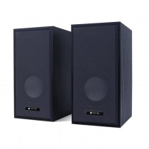 Wooden Speaker Set for Notebook and PC USB2.0 and 3.5mm Jack - Techly - ICC SP-320WTY