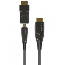 HDMI A/A Micro HDMI AOC Fiber Optic Cable 4K 20m - Techly - ICOC HDMI-HY2D-020