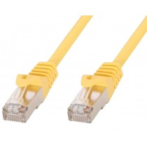 Copper Patch Cable Cat.6 Yellow SFTP LSZH 0.5m - Techly Professional - ICOC LS6-005-YET