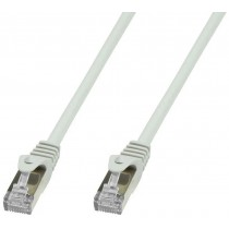 Copper Patch Network Cable Cat. 6A SFTP LSZH 10 m Gray - Techly Professional - ICOC LS6A-100-GYT