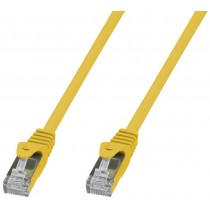 Copper Patch Network Cable Cat. 6A SFTP LSZH 10 m Yellow - Techly Professional - ICOC LS6A-100-YET