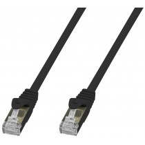 Copper Patch Network Cable Cat. 6A SFTP LSZH 20 m Black - Techly Professional - ICOC LS6A-200-BKT