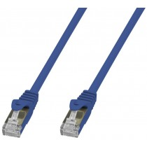 Copper Patch Network Cable Cat. 6A SFTP LSZH 20 m Blue - Techly Professional - ICOC LS6A-200-BLT