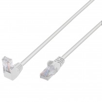 Network Patch Cable 90° Angled Connector CCA Cat.5E UTP 0.25m White - Techly Professional - ICOC U5EB-0025-WLTY