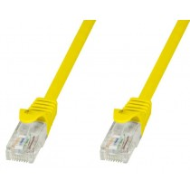 Copper Patch Cable Cat.6 UTP 0.3m Yellow - Techly Professional - ICOC U6-6U-003-YET