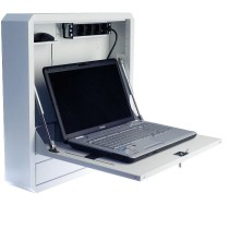 Security Box for Notebooks and Lim's accessories White RAL9016 - Techly Professional - ICRLIM01W2