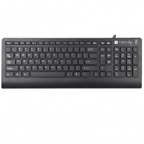 USB Standard Keyboard 104 Keys Italian Layout Black - Techly - ICSB-K20T