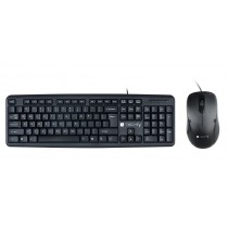 USB 2.0 Wired Standard Keyboard & Mouse kit - Techly - IDATA 955-USB-KT