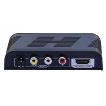Composite Converter S-Video + Stereo Audio to HDMI with scaler - Techly - IDATA SPDIF-6E2