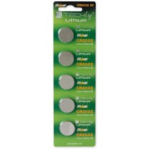 Lithium Button Batteries CR2032 (set of 5 pcs) - Techly - IBT-KCR2032