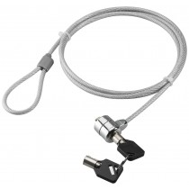 Steel Safety Cable with Notebook Padlock and two Keys - Techly - IQ-LOK-08-KT