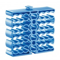 Modular Comb Organizer for 24 Ethernet Cables Blue - Techly - ISWT-PETCABLEBL