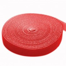 Velcro Roll Cable Management Length 4m Width 16mm Red - Techly - ISWT-ROLL-164RETY