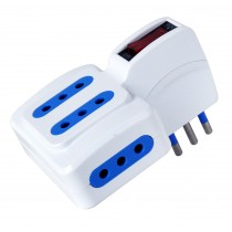 Adaptor with italian 10A plug and 4 italian sockets 10A - Techly - IUPS-PCP-410SP10