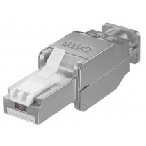 Tool-free RJ45 network connector CAT 6 STP shielded - Techly Professional - IWP-8P8C-TLS6T