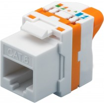 CAT 6 KeyStone RJ45 Jack, UTP unshielded - Techly Professional - IWP-MD C6/UROTT