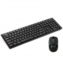 Kit Standard Keyboard and Mouse Wireless 2.4GHz Black - Techly - ICTWC001